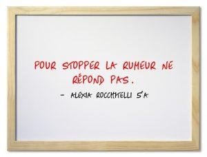 slogan rumeur Alexia