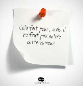slogan rumeur Fanny